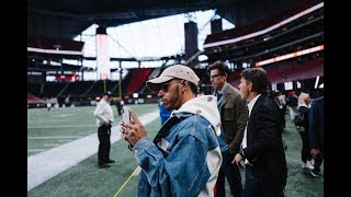 Toto, Lewis and Valtteri Hit Atlanta with MB USA and the Falcons