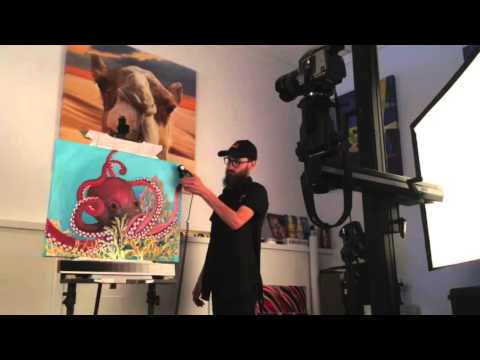 How to Photograph Your Artwork: Transfer Photos to Canvas