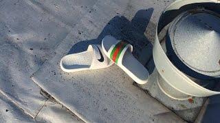 how to make custom gucci nike sandals