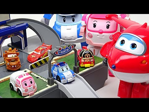 Thumbnail: My friends are shrunk!! Super Wings, Disney Cars and Robocar Poli Pocket Playset!! - DuDuPopTOY