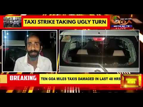 North Goa private taxi operaters are cowards who have beaten this Goamiles cab driver.