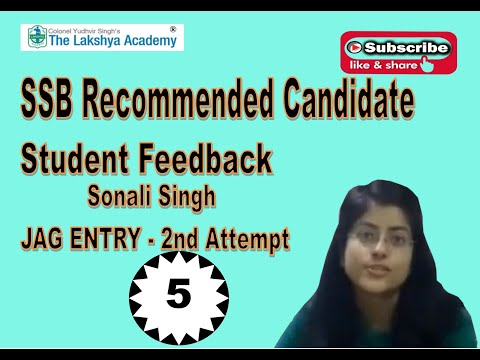 RECOMENDED CANDIDATE SONALI (JAG ENTRY) FEEDBACK