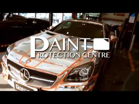 Mercedes Benz SLK Silver Chrome with Orange Gloss TRON Concept
