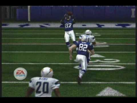Madden 08 Xbox 360 Colts Vs Chargers Clips Part 1 Of 2