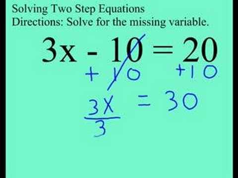Grade 8: 2-Step Equation with Mult and Add (cmdn007) - YouTube