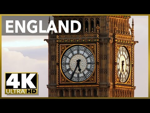 LONDON & ENGLAND Top Tourist Destinations, 4k Ultra HD Stock