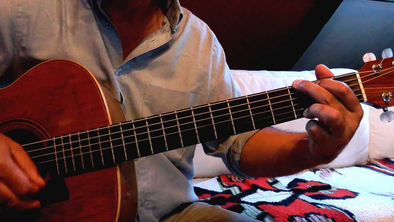 comment jouer nathalie de gilbert becaud la guitare youtube. Black Bedroom Furniture Sets. Home Design Ideas