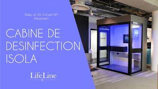 ISOLA - cabine de désinfection pour la protection des espaces publics et privés.