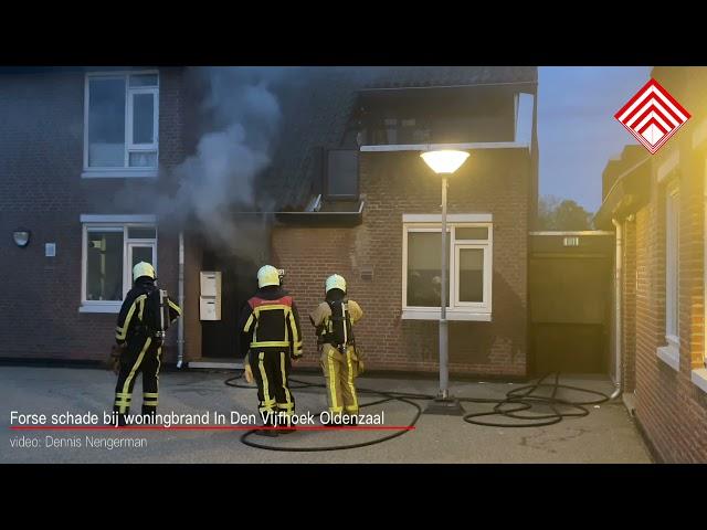 Forse woningbrand In De Vijfhoek Oldenzaal