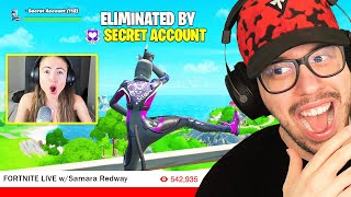I Stream Sniped My Girlfriend on a SECRET ACCOUNT! (Fortnite)