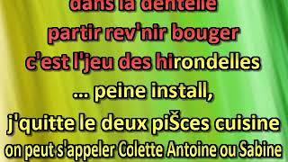 Alain Souchon L'amour en fuite [karaoke]