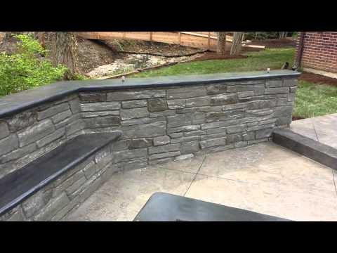 Stamped concrete patio by T & H Foundations Mo