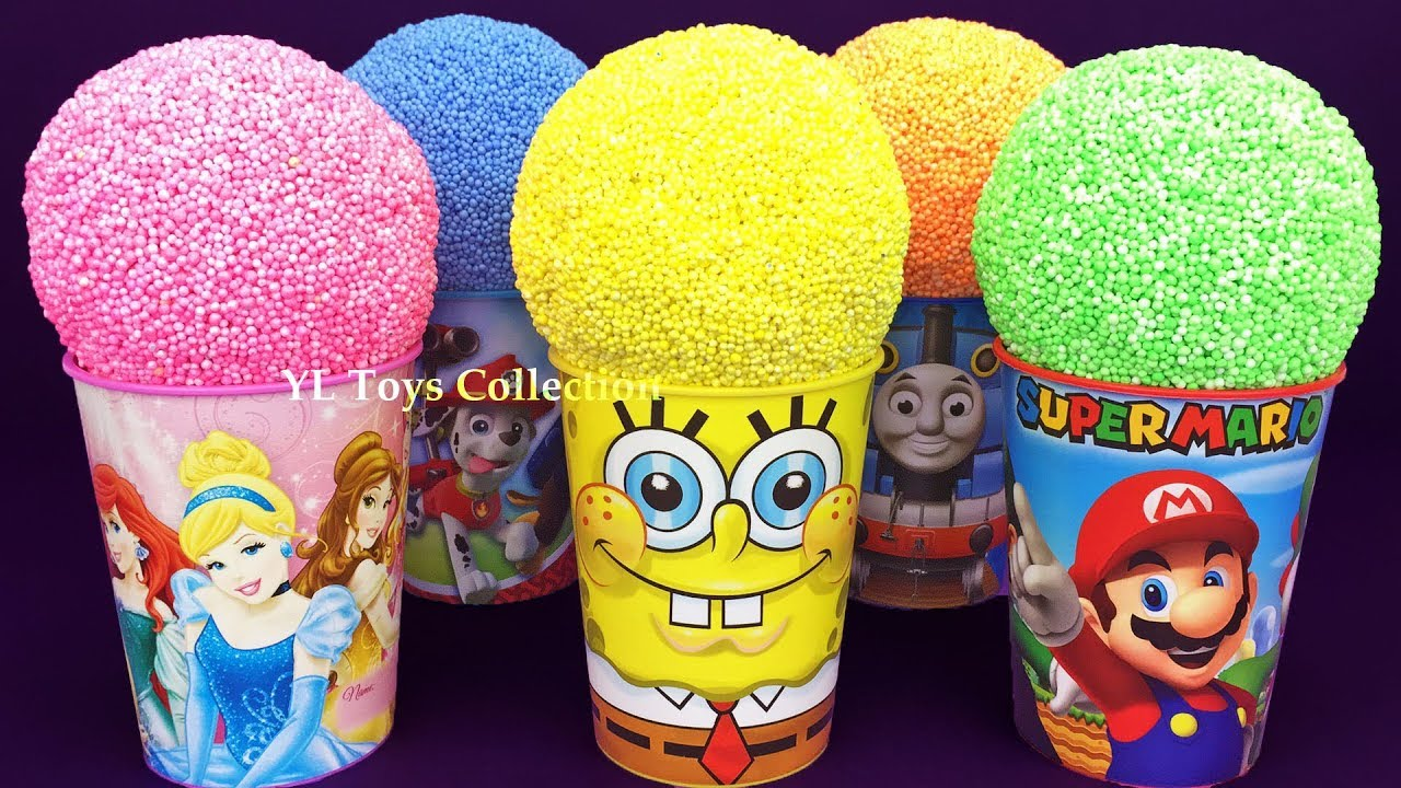 Download 5 Color Play Foam in Ice Cream Cups PJ Masks Chupa Chups LOL Surprise Eggs Paw Patrol Surprise Toys