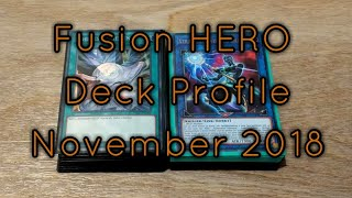 Fusion Destiny HERO Yugioh! Deck Profile NOVEMBER 2018 BudgetDecks!