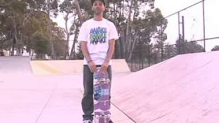 Skateboard Tricks: Backside 180 Kickflip On a Bank