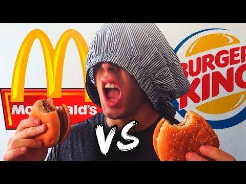 MCDonalds Vs Burger King ¿Podrías DISTINGUIR la COMIDA a CIEGAS? [Dualcoc]