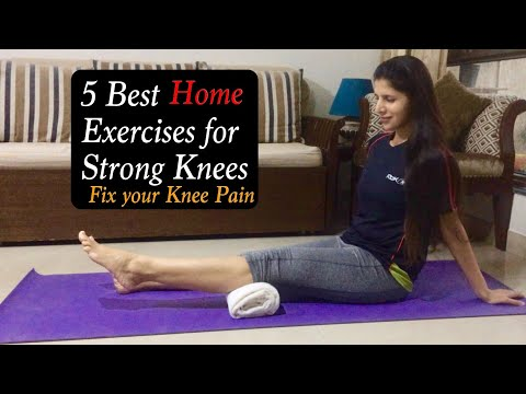 5 Best Home Exercises for Knees Pain | Knee strengthening Exercises to Reduce Knee Pain | Cure