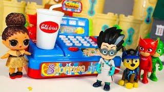 Куклы ЛОЛ мультик для детей Играем в СУПЕРМАРКЕТ Видео для детей про Игрушки LOL Dolls Surprise