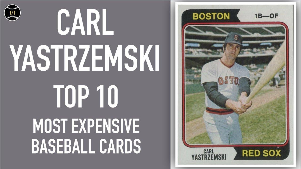 Carl Yastrzemski Top 10 Most Expensive Baseball Cards Sold On Ebay