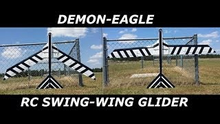 Demon-eagle Rc Swing-wing Glider Maiden!