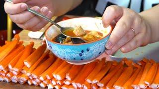 쌀쌀해진 날씨, 따뜻하고 매콤한 알탕에 대게다리살 먹방…