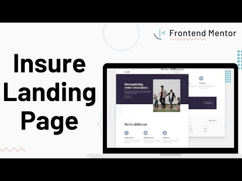 Insure Landing Page - Design To HTML/CSS