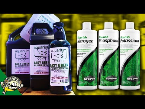 How to use Aquarium Fertilizers Seachem, and Aquarium Co-Op All in One Fertilizer