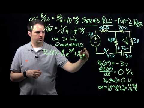 Circuits I: Example With RLC Circuit (Series, Natural Response)