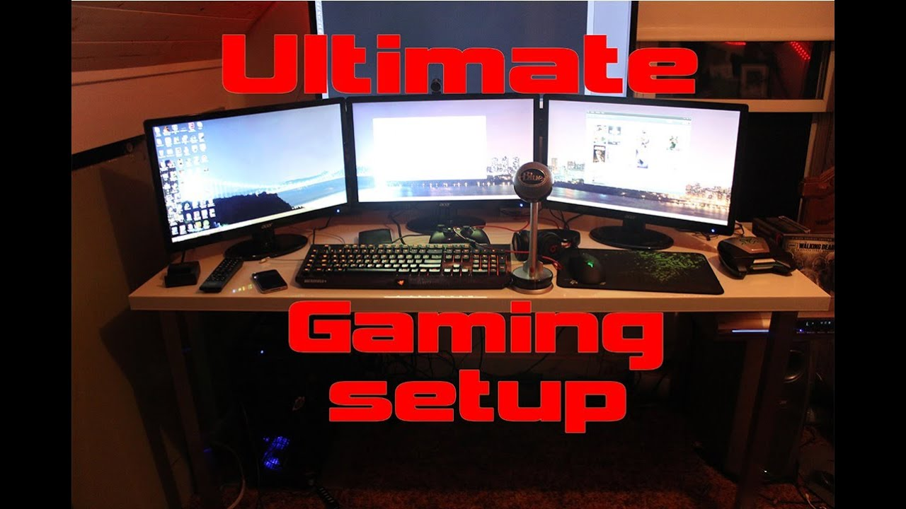 My Ultimate Gaming Setup Man Cave Bedroom June 2014 Youtube