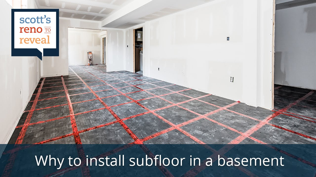 Why to Install Subfloor in a Basement - YouTube