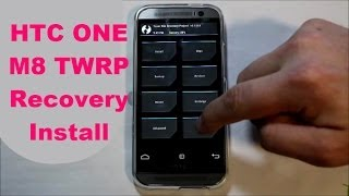 How to install TWRP recovery on the HTC One M8