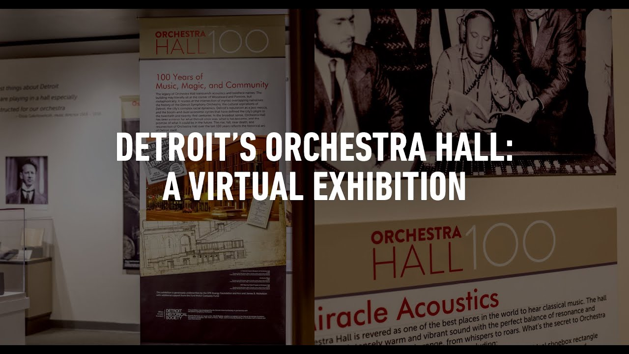 Artwork representing Detroit's Orchestra Hall: A Virtual Exhibition