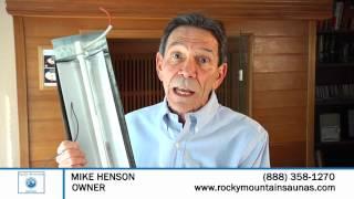 Infrared Sauna Heating Element Demo   (888) 358-1270