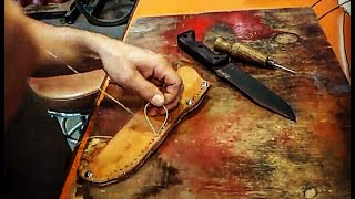 Download HOW TO make a SIMPLE LEATHER SHEATH for BECKER BK7 KNIFE Mp3 and Videos