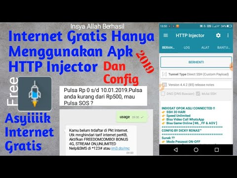 Cara Internet gratis Agustus 2020 Menggunakan Aplikasi Http Injector.
