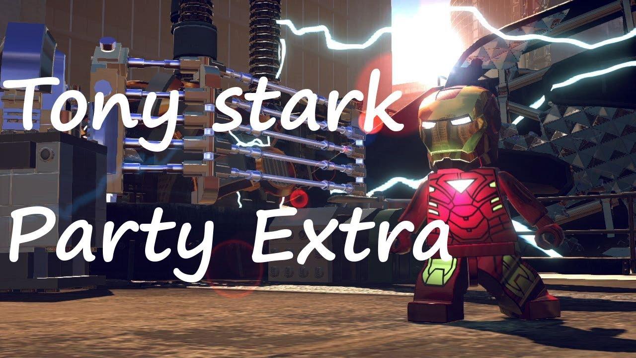 marvel lego tony stark party