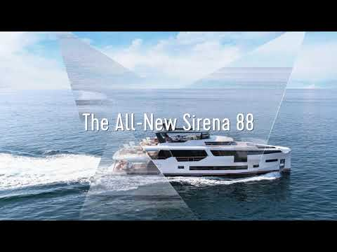 Sirena 88 flagship yacht world debut at 2019 Cannes Yachting