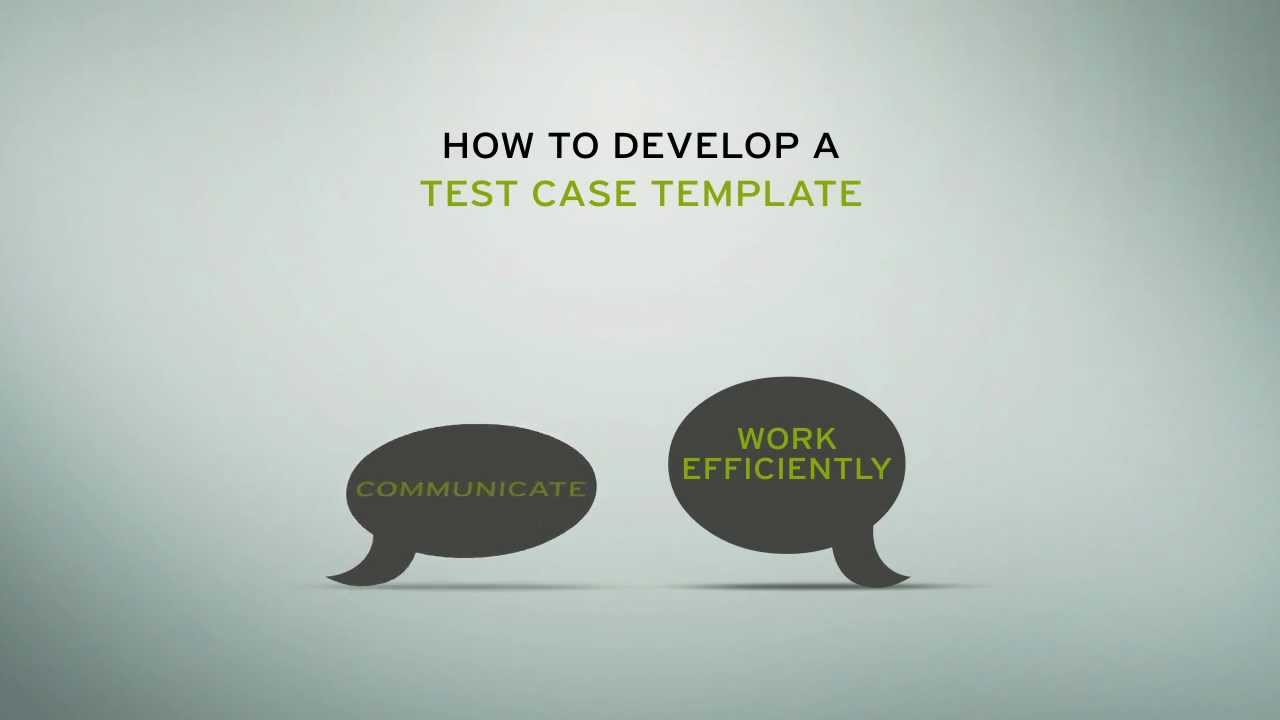 How To Develop A Test Case Template - YouTube