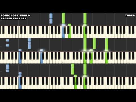 Sonic Lost World - Frozen Factory Zone 1 - Awesome for Piano