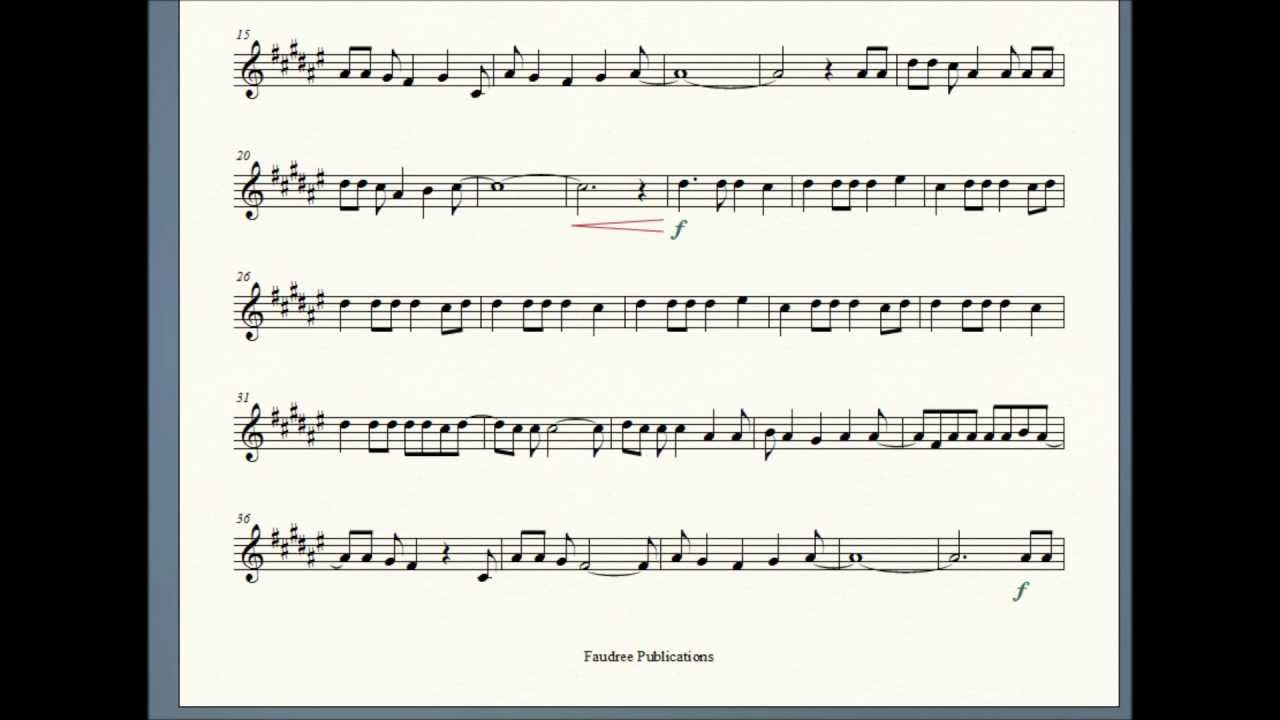 how to end sheet music