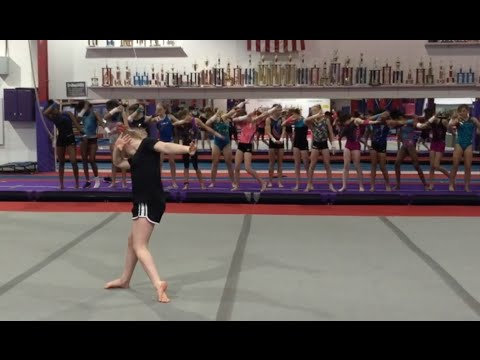 New Floor Choreography for the Coral Girls by The Posture Lady | Gymscool