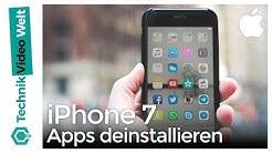 iPhone 7 Apps löschen und deinstallieren