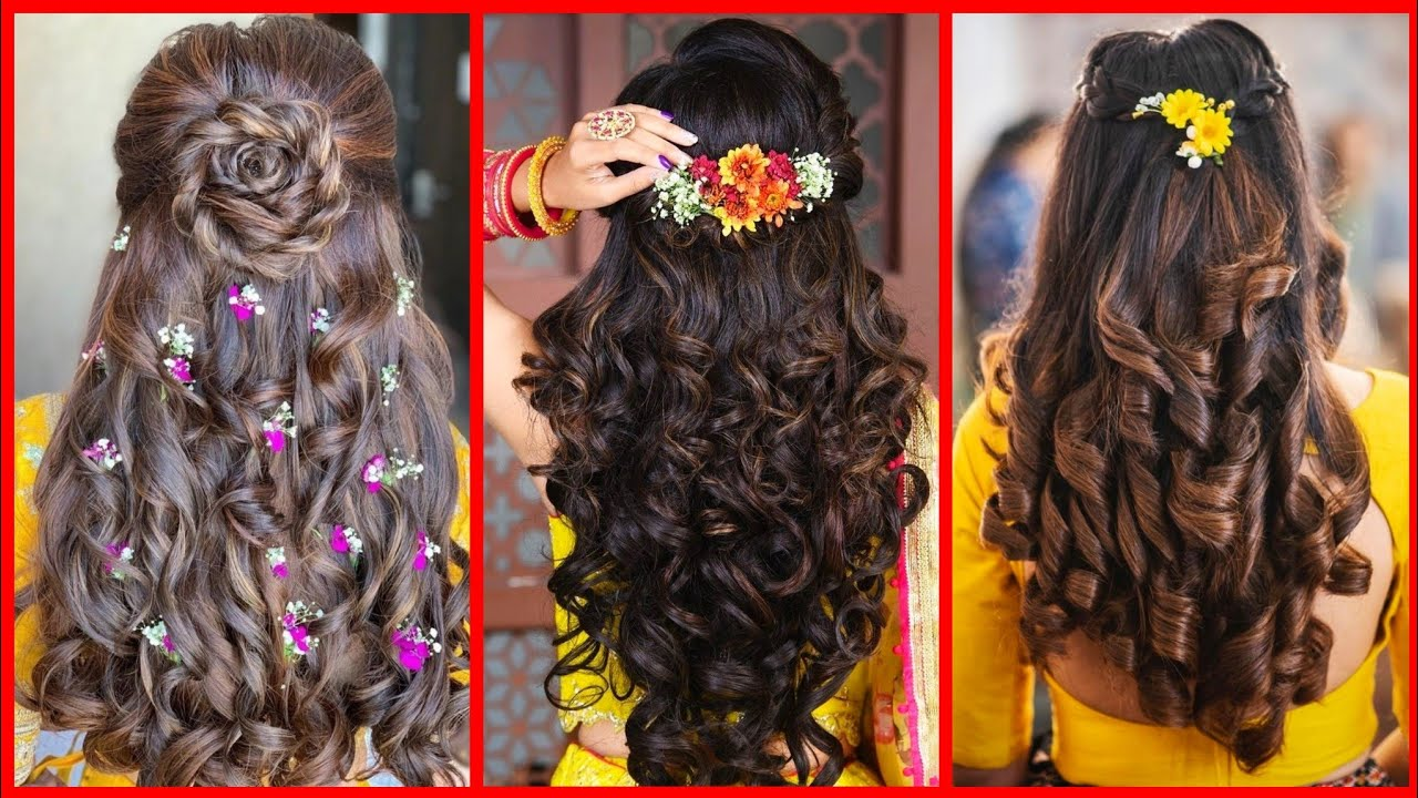 Latest Open Hair Party Wear Hairstyles Beautiful Hairstyles For Weeding For Girl S Women S Youtube