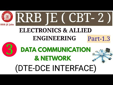 DATA COMMUNICATION & NETWORK (DTE-DCE INTERFACE) FOR RRB JE ELECTRONICS & ALLIED ENGINEERING