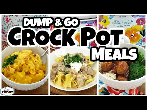 DUMP & GO CROCK POT MEALS  | Quick & Easy Crock Pot Recipes | Fall Food Friday!