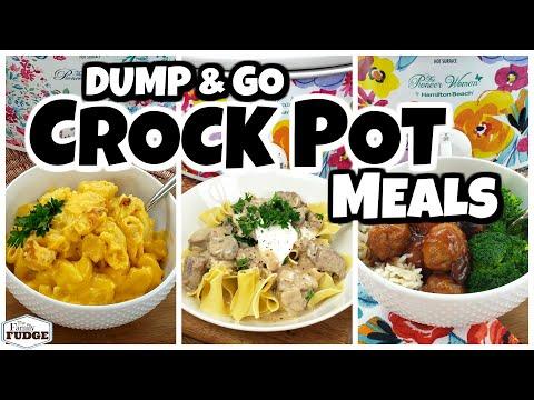 DUMP & GO CROCK POT MEALS  | Quick & Easy Crock Pot Recipes | Fall Food Friday!