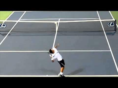 Taylor Dent serve 147mph 2009 US Open Super slow motion