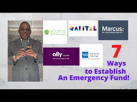 7 Ways To Establish An Emergency Savings Fund - It's a Must For Every Individual and Every Family!