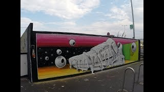 WAKE UP (Street art animation by DIAN) // Life is Porno x Footshop