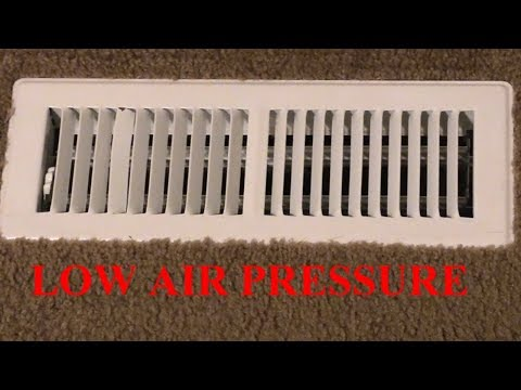 Low Air Pressure From Vent Registers- How To Fix